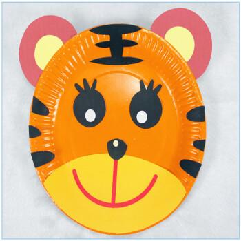 梦童工坊 儿童纸盘子动物手工制作diy材料 儿童益智粘贴类贴纸贴画