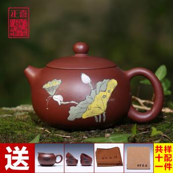 工名家手绘茶壶
