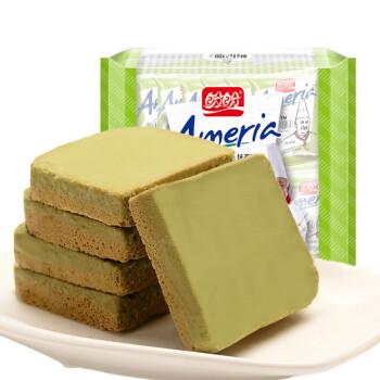盼盼 梅尼耶干蛋糕 面包干饼干 抹茶味100g(内装10枚)