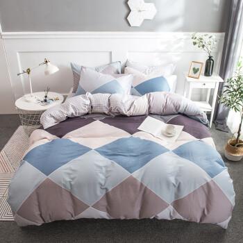 南极人 套件家纺 纯棉四件套 全棉床上用品床单被套 绅士品格 1.5米/1.8米床 200*230cm