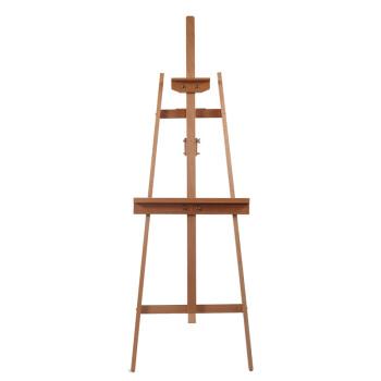 宏泰轩后撑式榉木画架实木架广告架展示架素描写生美术用品 W01C POP展示 高147cm