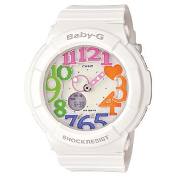 卡西欧(CASIO)手表 BABY-G系列霓虹照明可爱时尚石英女表BGA-131-7B3