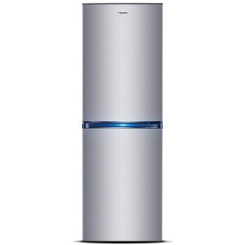 奥马(Homa)BCD-201WEK 201升 双门电冰箱 一级能效 风冷无霜冰箱(浅密拉丝银)
