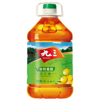 九三 非转基因 三级 大豆油 4L 39.9元