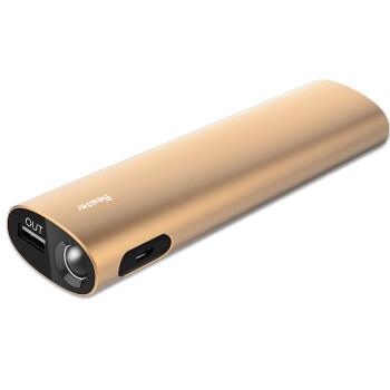 倍斯特 10400毫安 移动电源/充电宝 0177+特斯拉 香槟金