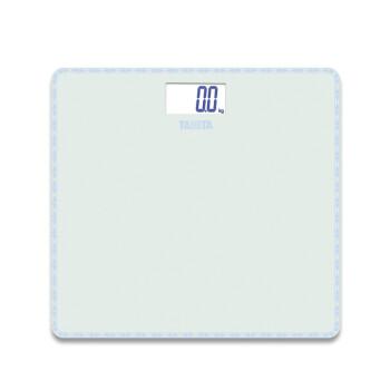 百利达(TANITA)HD-380 家用电子称健康秤人体称体重计 玻璃面板 白色