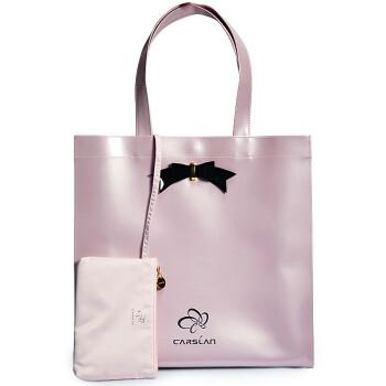 卡姿兰Carslan时尚化妆包手拿包 桃丝花容单肩包(大号)