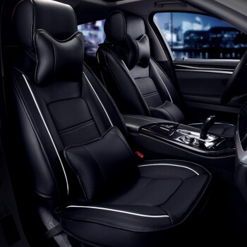 新款汽车座垫全包四季通用皮套座椅套夏季坐垫车套 魅力黑 雪弗兰新科