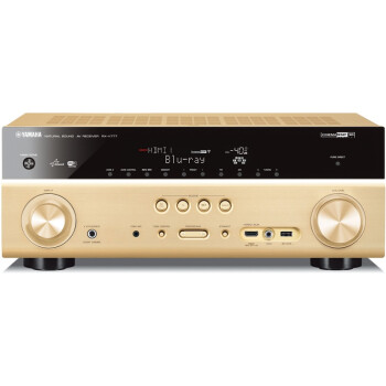 雅马哈(Yamaha)RX-V777 家庭影院7.2声道(7*160W)AV功放机 支持4K超高清/wifi/双HDMI输出 金色