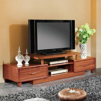 御王府实木地柜客厅乌金木电视柜伸缩储物柜抽厅柜全新中式家具