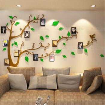 逸美达创意3d水晶亚克力立体墙贴电视背景墙