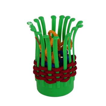 京奇花篮积木益智编织塑料玩具幼儿园创意拼搭益智塑料桌面积木买9粒