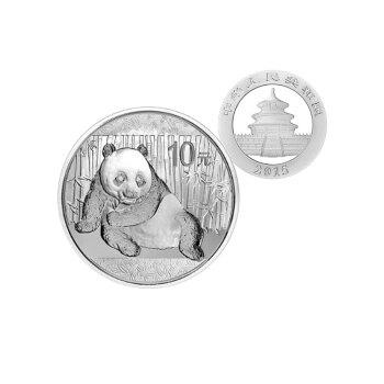 中国金币河南钱币 2015年熊猫银币 1盎司银币 无盒