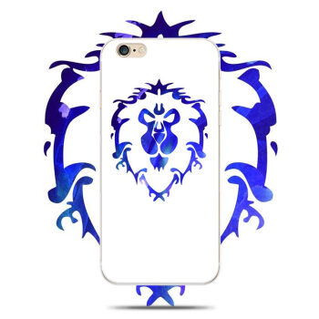 wow部落标志iphone6s手机壳 苹果5s/6plus魔兽世界联盟硅胶软壳潮