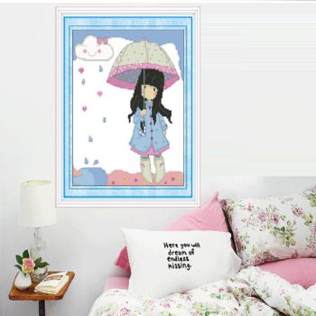 奈思5D人物画女生钻萌钻石卡通卧室魔方装时间的需要女孩说图片