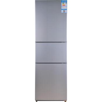 新飞(Frestec)BCD-223DMK 223升 节能静音 三门冰箱(光亮拉丝)