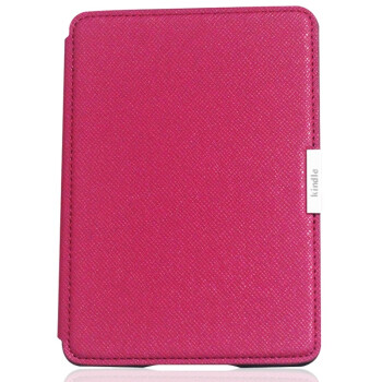 雷麦(LEIMAI) LM-KP80 Kindle Paperwhite皮套保护套 十字纹磁扣 玫红色