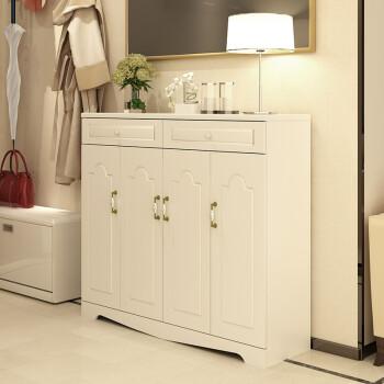 简约现代客厅隔断柜 双面酒柜鞋柜大容量门厅玄关柜 A款格桑梅朵80