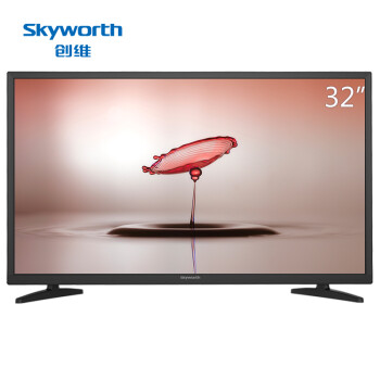 创维(Skyworth)32X3 32英寸 窄边蓝光高清节能平板液晶电视(黑色)