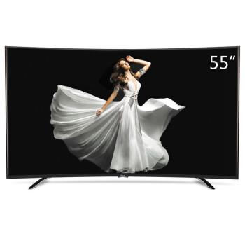 TCL D55A920C 55英寸 曲面高色域真彩8核安卓4.4智能电视(黑色)