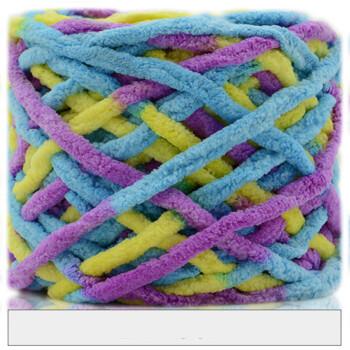 围巾线 冰条线编织围巾线 钩拖鞋坐垫牛奶棉冰条粗毛线情人节礼物 59