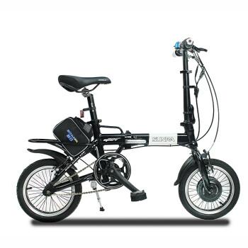新日锂电折叠电动自行车 灰色