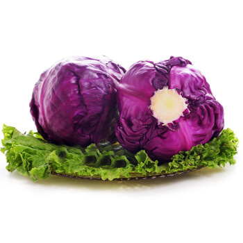 紫甘蓝_恒绿陕西紫甘蓝 1个 约700g