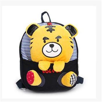 公仔卡通儿童书包幼儿园男女生潮宝宝可爱韩国双肩背包包p深蓝老虎