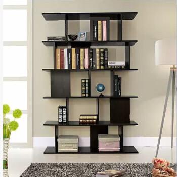 中式仿古家具实木榆木 书房多层书柜隔断玄关 搁板置物架子书架