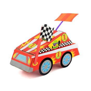 幼儿园儿童手工diy彩纸粘贴制作玩具 美劳材料创意纸盒小汽车 粘贴图片