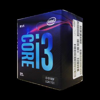 英特尔(Intel)i3 i5 i7 CPU处理器台式机电脑 全新盒装 i3 9100F 非集显 四核四线程