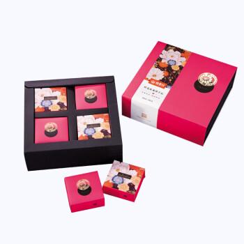 稻香村月饼礼盒中秋月饼 鲜花水果伴手礼240g