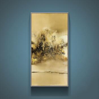 原创酒店装饰画抽象客厅赵无极别墅挂画玄关别嘉惠徐州园油画图片