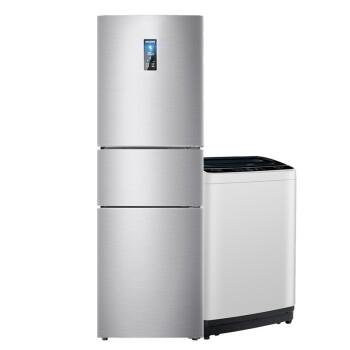 美菱(MELING)【冰洗套餐】220升三门家用小型风冷无霜电冰箱+7.5公斤全自动波轮洗衣机 租房优选,降价幅度6%