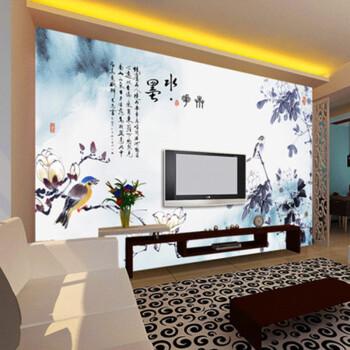 科卡中式手绘花鸟花卉大型壁画 山水情风景江南客厅电视背景墙纸壁纸