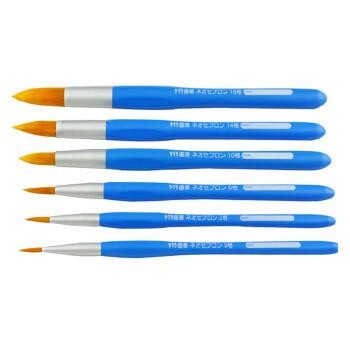 樱花(Sakura) 圆头尼龙画笔  水彩笔 水粉 丙烯 油画笔 6支全套