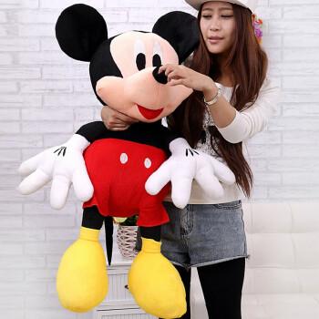 米老鼠米奇米妮公仔大号毛绒玩具娃娃创意送女生生日礼物 米奇 1米图片