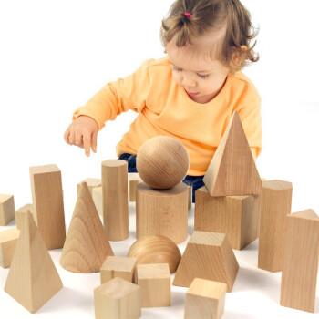 28颗立体几何体模型蒙氏教具/数学积木/小学教具玩具