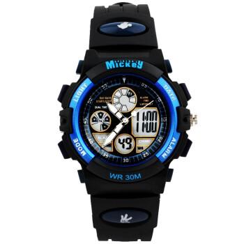 迪士尼(Disney)防水夜光米奇电子表 儿童手表男孩运动表学生手表PS021-1
