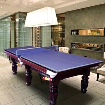HIBOY CUE美式黑8台球桌标准16彩台球案桌球台家用2合1 2合1(棕色标准腿/棕色升降腿