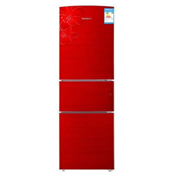 美菱(MeiLing)BCD-220L3BX 220升 三门冰箱玻璃面板 (芙蓉红)