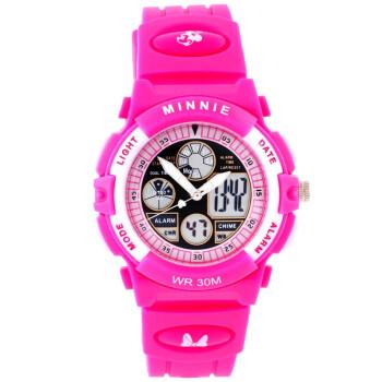 迪士尼(Disney)防水夜光米奇电子表 儿童手表女孩运动表学生手表PS021-8