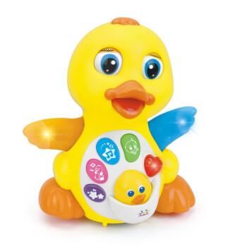 Huile TOY'S 汇乐玩具 808 婴幼儿童电动益智动物玩具 摇摆大黄鸭