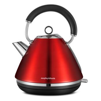 英国摩飞(Morphyrichards)MR7076A电水壶 304不锈钢电热水壶 红色