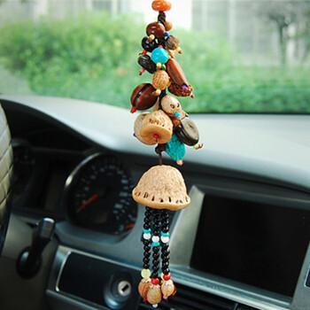 老周家创意汽车挂件车内车载后视镜车挂创意佛珠挂饰品十八菩提子串高清图片