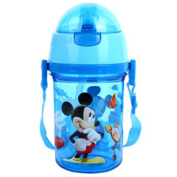 【京东超市】迪士尼儿童水杯 宝宝背带吸管杯按键水壶蓝色米奇400ml56