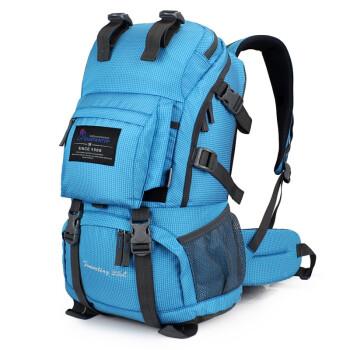 玛丁图 Mountaintop M5811 户外背包登山包男女双肩包旅行包骑行包  天蓝色 35L+5L