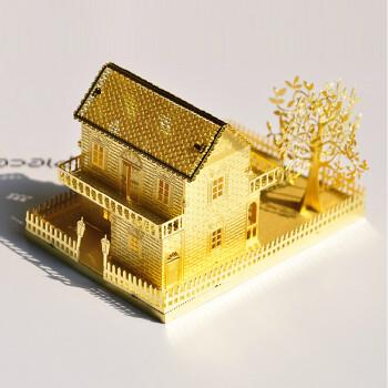 创意金属diy建筑小屋手工制作房子礼物 建筑模型拼装别墅女孩玩具