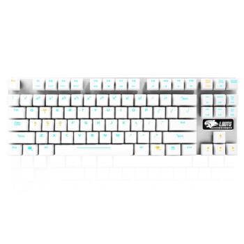 达尔优(dare-u)机械师合金版 87键背光机械键盘 黑轴版 白银色