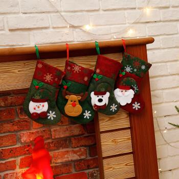 沃若 圣诞袜糖果袋圣诞树装饰袜老人雪人礼物